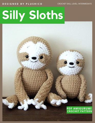 Silly Sloths Amigurumi Crochet Pattern