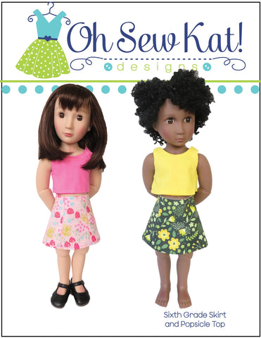 Sixth Grade Skirt Pattern For A Girl For All Time Dolls