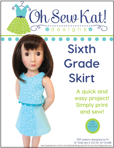 Oh Sew Kat A Girl For All Time Sixth Grade Skirt Pattern For A Girl For All Time Dolls Pixie Faire