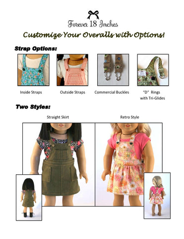 "NOT!  Your Brother's Overalls 18"" Doll Clothes"