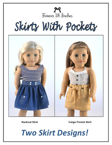 "Skirts With Pockets Bundle 18"" Doll Clothes"