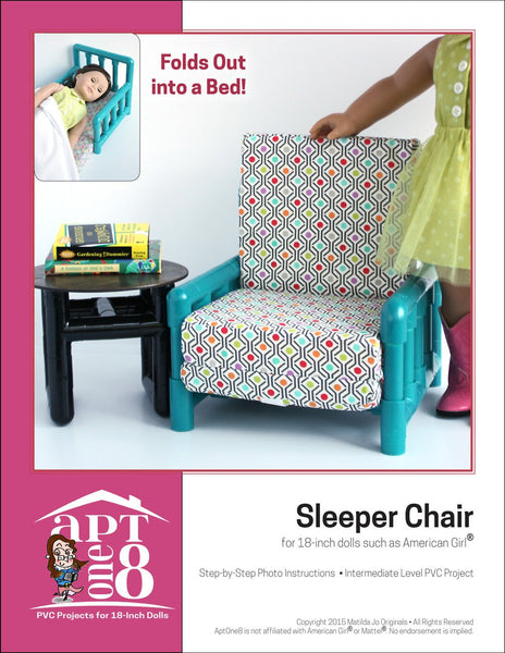 Aptone8 Sleeper Chair Pattern 18 Inch Dolls Such As
