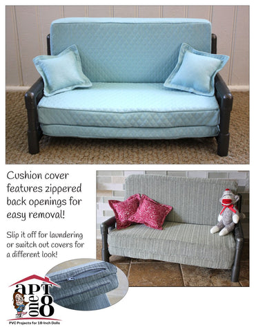 "Sleeper Sofa 18"" Doll PVC Pattern"