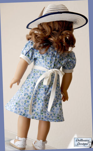 PDF sewing pattern 18 inch doll clothes 1930s dress nancy drew sleuth designed to fit American Girl