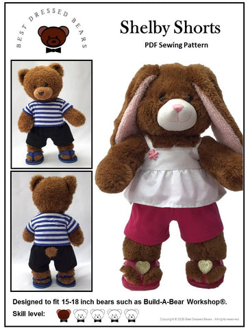 Shelby Shorts Pattern for Build-A-Bear Dolls