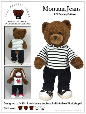 Montana Jeans Pattern for Build-A-Bear Dolls