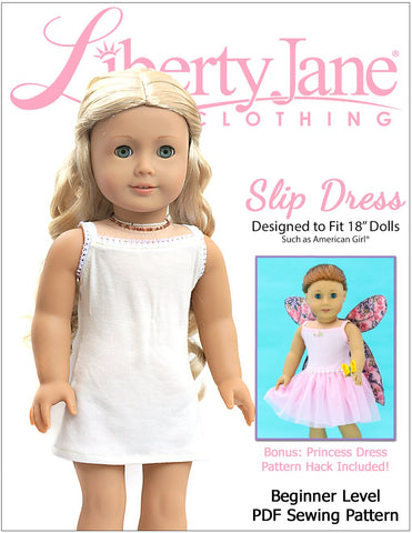 "Slip Dress 18"" Doll Clothes Pattern"