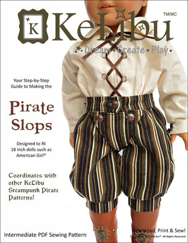 "Steampunk Pirate Slops 18"" Doll Clothes"