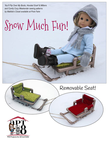 "Snow Sled 18"" Doll PVC Pattern"
