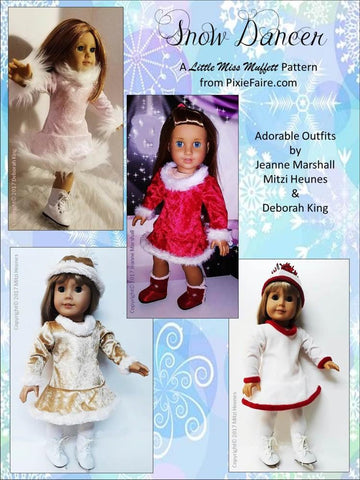 "Snow Dancer 18"" Doll Clothes Pattern"