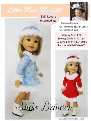 "Snow Dancer 14.5"" Doll Clothes Pattern"
