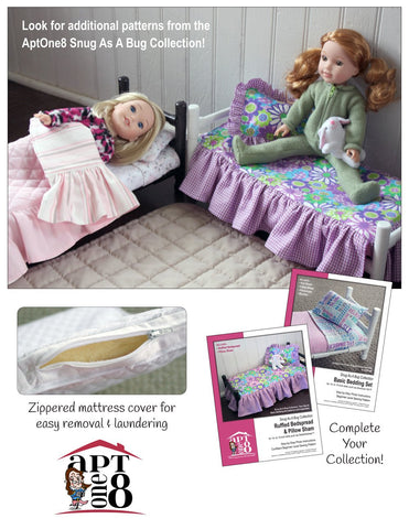 Snug As A Bug Collection: Twin Bed PVC Pattern for 14.5 Inch Dolls