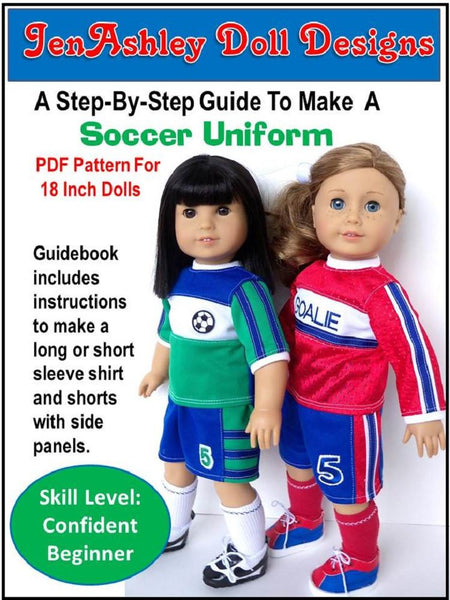 Soccer Uniform 18 Inch Doll Clothes Pdf Pattern Download