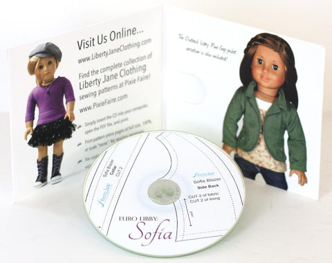 CD Doll Clothes Pattern Bundle - Sofia Outfit Collection
