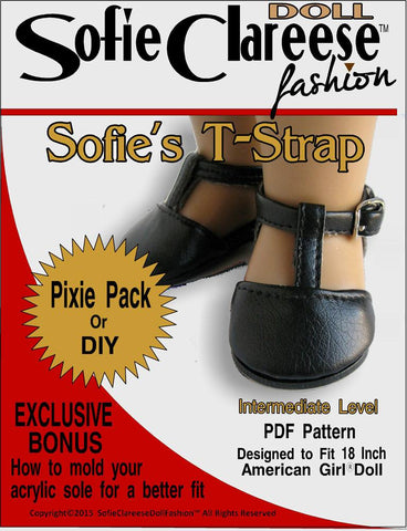 "Sofie's T-Strap Shoe 18"" Doll Shoes"