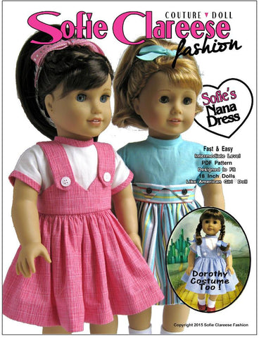 "Sofie's Nana Dress 18"" Doll Clothes"