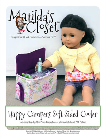 "Matilda's Closet 18 Inch Modern Soft Sided Cooler 18"" Doll Accessories Pixie Faire"