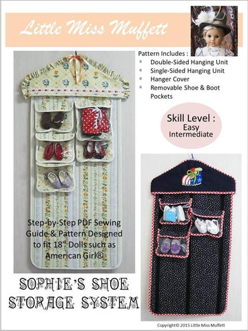 "Sophie's Shoe Storage System 18"" Doll Accessory Pattern"