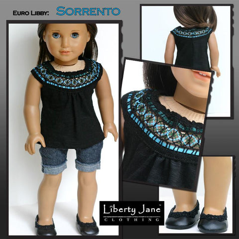 "Sorrento Top 18"" Doll Clothes Pattern"