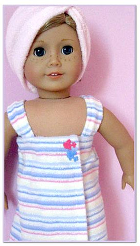 "Spa Wrap & Towel 18"" Doll Clothes Pattern"