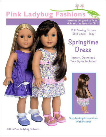 "Springtime Dress 18"" Doll Clothes Pattern"