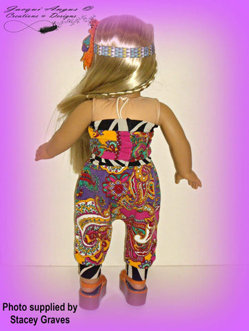 "I Like To Move It - Harem Slacks and Jumper 18"" Doll Clothes Pattern"