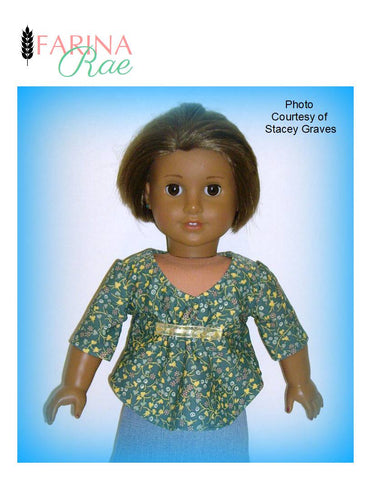 "Francie Top 18"" Doll Clothes Pattern"