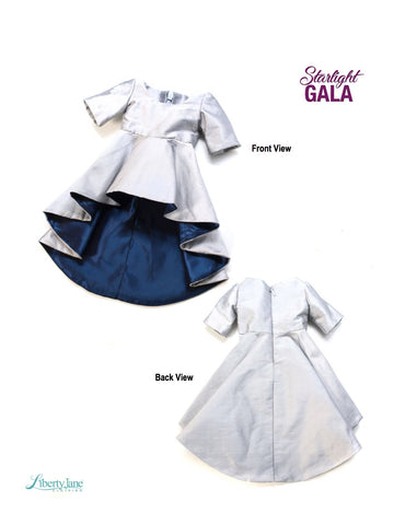 "Starlight Gala Dress 18"" Doll Clothes Pattern"