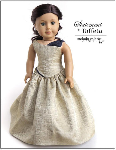 "Statement in Taffeta dress 18"" Doll Clothes"