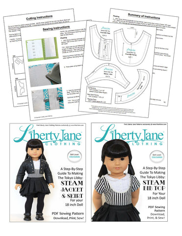 CD Doll Clothes Pattern Bundle - Steam Outfit Collection