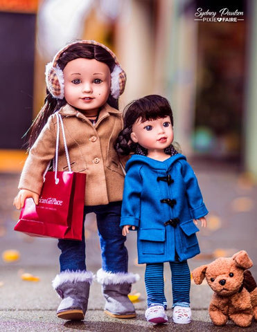 Oxford Square Coat 14 - 14.5 Inch Doll Clothes Pattern