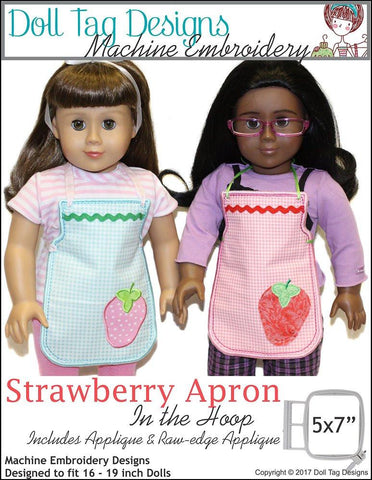 Strawberry Apron Machine Embroidery Designs