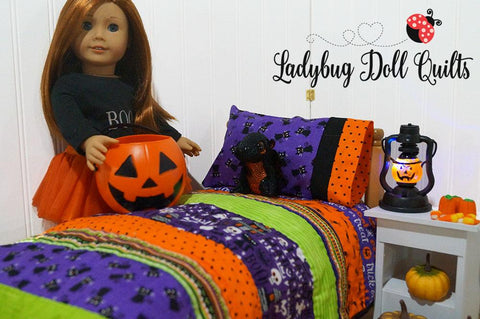 "Strippy Holidays 18"" Doll Quilt Pattern"