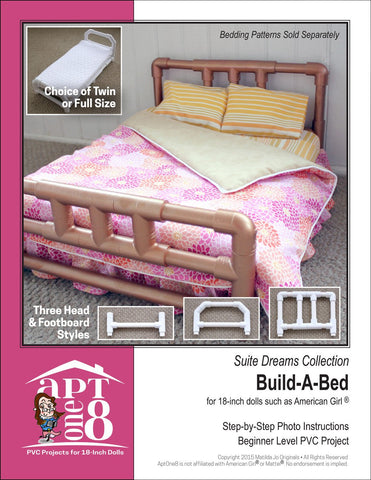 "Suite Dreams Collection: Build-A-Bed PVC Pattern for 18"" Dolls"