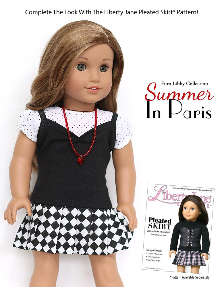 "Polka Dot Summer Tank Top made for 18/"" American Girl Doll Clothes"
