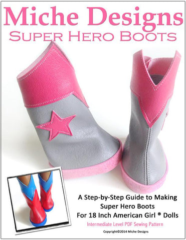 "Superhero Boots 18"" Doll Shoes"