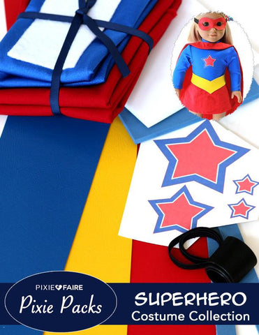 Pixie Packs Superhero Costume Collection - Red