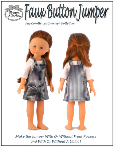 "Faux Button Jumper for 13"" - 14"" Dolls"