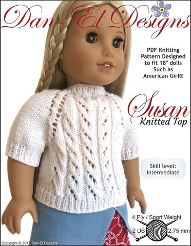 "Susan Top 18"" Doll Knitting Pattern"