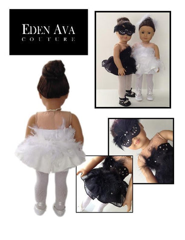 "Black Swan White Swan 18"" Doll Clothes"