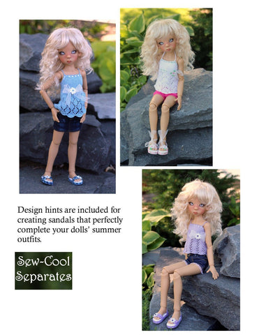 Sweet Sandals Pattern for MSD Ball Jointed Dolls