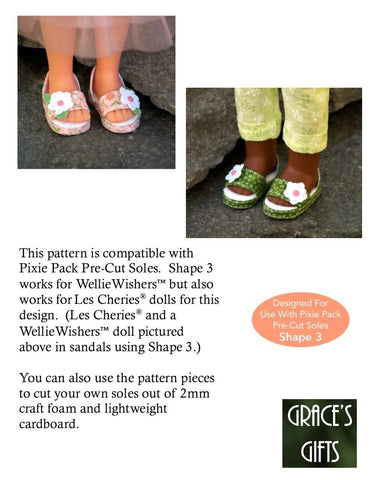 "Sweet Sandals for 13-14.5"" Dolls"