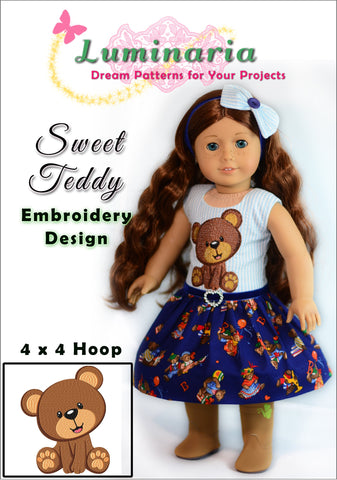 Sweet Teddy Machine Embroidery Design
