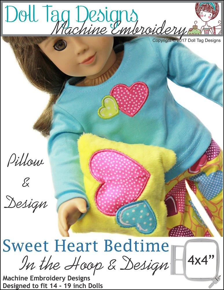 Sweet Heart Bedtime Machine Embroidery Designs