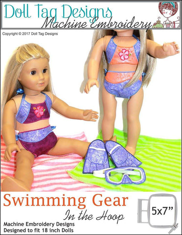 Swimming Gear Machine Embroidery Designs