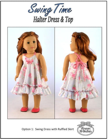 "Swing Time Halter Dress & Top 18"" Doll Clothes"