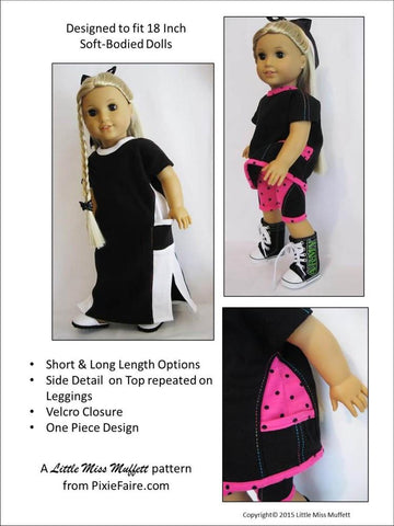 "Swing Shift Razzmatazz 18"" Doll Clothes Pattern"