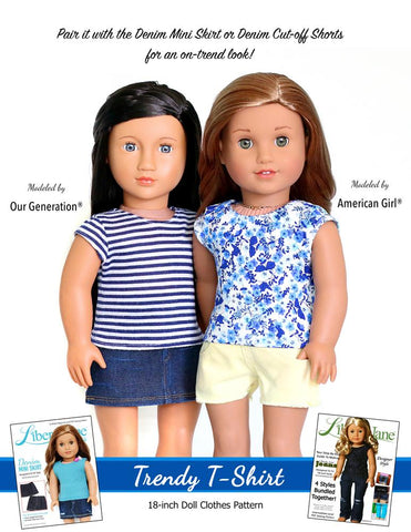 FREE Liberty Jane 18 inch doll clothes pattern fits American Girl or Our Generation dolls