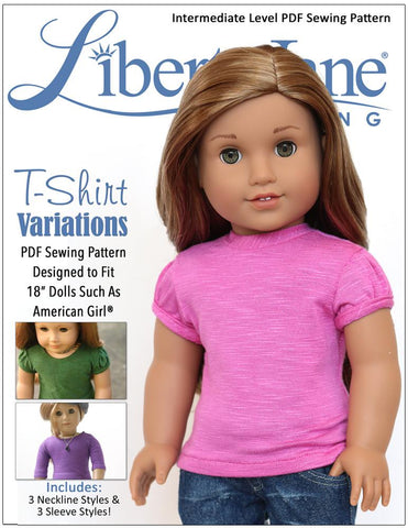 Liberty Jane 18 inch doll clothes pattern t-shirt American Girl