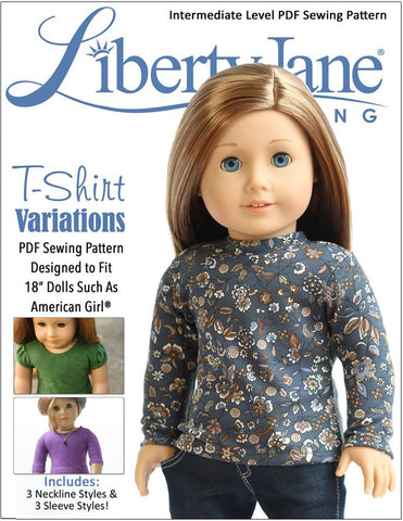 "T-Shirt Variations 18"" Doll Clothes Pattern"